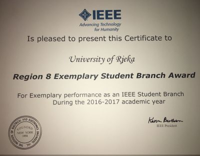 IEEE Exemplary Student Branch Award