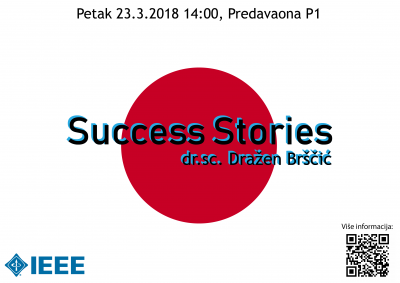 Success Stories - dr.sc. Dražen Brščić